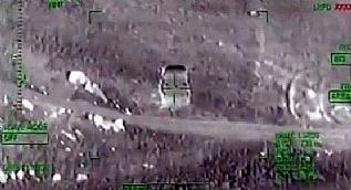 Bomba y�kl� 3 ara� helikopterle imha edildi