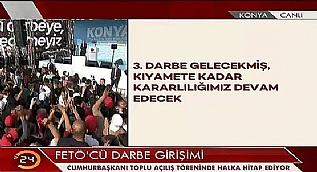 Cumhurba�kan� Erdo�an'dan '���nc� darbe' iddias�na yan�t