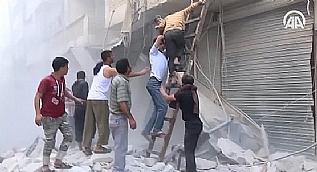 Halep'te yerle�im alanlar�na sald�r�