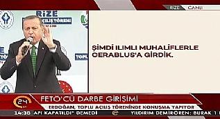 Cumhurba�kan� Erdo�an: Musul'un ter�r �rg�tlerine verilmesine m�sade etmeyiz