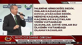 Cumhurba�kan� Erdo�an'dan Rize'ye m�jde