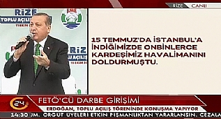 Cumhurba�kan� Erdo�an'dan Pensilvanya'ya: Korkanlar�n �an� ka�makt�r