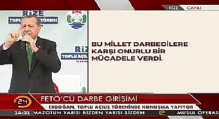 Cumhurba�kan� Erdo�an: 15 Temmuz'u unutmayaca��z, unutturmayaca��z