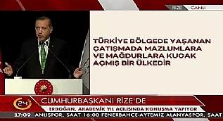 Cumhurba�kan� Erdo�an: Siz burada ne ar�yorsunuz?