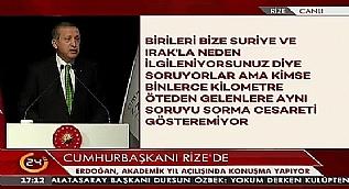 Cumhurba�kan� Erdo�an: Bizim k�lt�r�m�zde asl�n� ink�r eden haramzadedir