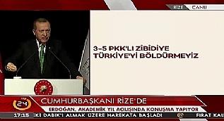 Cumhurba�kan� Erdo�an: Biz bunlar�n can�na okuruz