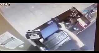 Silahl� soyguncu sert kayaya �arpt�