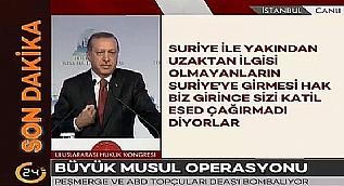 Erdo�an: Oray� PYD ve YPG�den temizlemezseniz, sizinle ortak hareket edemeyiz