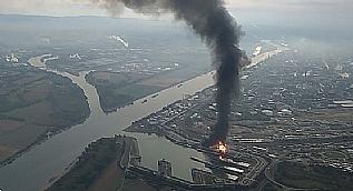 Almanya'da kimyasal fabrikas�nda yang�n ��kt�