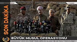 Barzani: 200 kilometre karelik alan DAE�'ten temizlendi