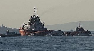 3 askerin �ehit olmu�tu!... Geminin bota �arpma an� ve sonras�nda ya�ananlar kamerada
