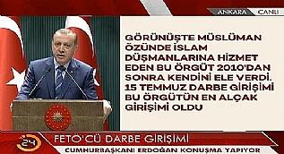 Cumhurba�kan� Erdo�an: 15 Temmuz'dan bu yana 182 ter�rist �ld�r�ld�