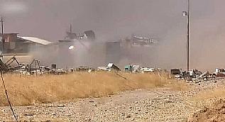 Musul'da bomba y�kl� kamyonla intihar sald�r�s� kamerada