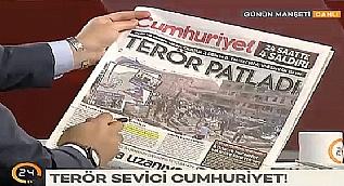 Cumhuriyet Gazetesi'nin ter�r man�etine sert tepki