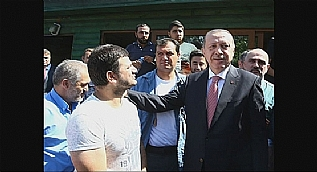 Cumhurba�kan� Erdo�an dolmu� dura��n� ziyaret etti