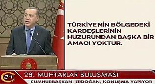 Cumhurba�kan� Erdo�an 28. Muhtarlar Bulu�mas�'nda konu�tu-1