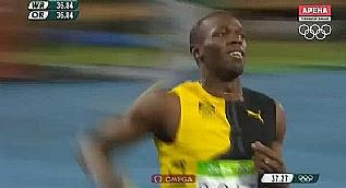 Usain Bolt tarih yaz�yor