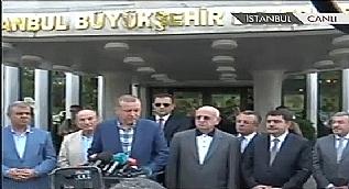 Cumhurba�kan� Erdo�an, �BB'de a��klama yapt�