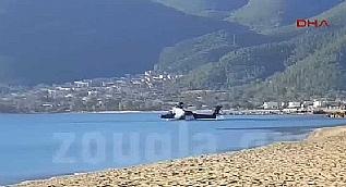 Yunan helikopterinin d����� cep telefonuyla g�r�nt�lendi