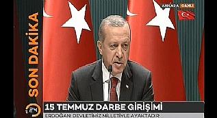 Cumhurba�kan� Erdo�an: 15 Temmuz '�ehitleri Anma G�n�'
