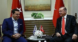 Cumhurba�kan� Erdo�an, Yunanistan Ba�bakan� �ipras�la g�r��t�