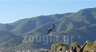 Yunan helikopteri b�yle d��t�