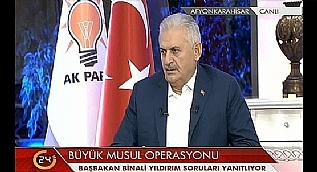 Ba�bakan Y�ld�r�m'dan fla� Musul operasyonu a��klamas�