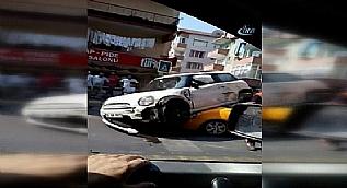 Pendik'te ilgin� trafik kazas�