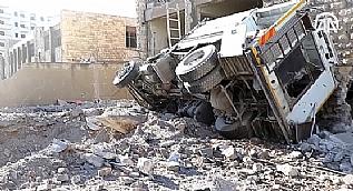 Halep'te sivil yerle�im alanlar�na sald�r�: 15 �l�
