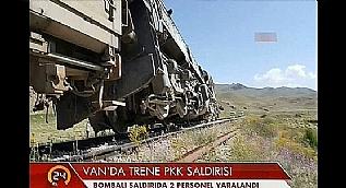 Ter�r �rg�t� PKK'dan t�k trenine bombal� sald�r�