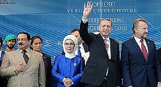 Dev proje Yavuz Sultan Selim K�pr�s� a��ld�, Cumhurba�kan� Erdo�an m�jdeyi verdi