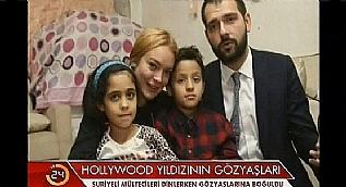 Lindsay Lohan �stanbul ziyaretinde m�ltecileri unutmad�