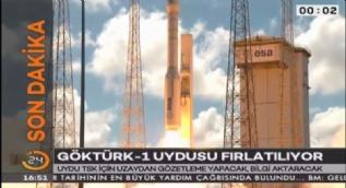 Türkiye'nin askeri istihbarat uydusu Göktürk-1 uydusu fırlatıldı