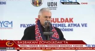 Başbakan Yıldırım: Filyos Limanı'nda 12 bin kişiye istihdam sağlanacak