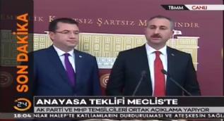 AK Parti ve MHP'li kurmaylar ortak açıklama yaptı