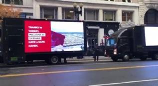 Başkan Erdoğan´ın ziyareti öncesi Washington sokaklarında dikkat çeken görüntüler