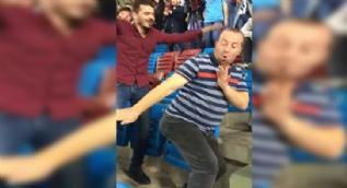 Trabzonspor gol atınca çılgınca dans etti