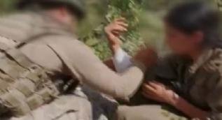 Mehmetçik´ten teslim olan yaralı teröriste şefkat eli! İşte o anlar