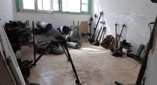 Tel Abyad ve çevresinde çok sayıda mühimmat ele geçirildi