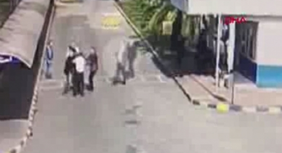 Sendika genel başkanın vurulduğu kavga kamerada