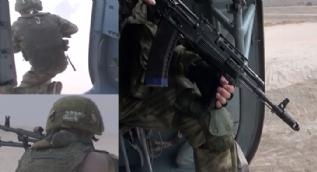 Rus askerleri üsse böyle girdi! İşte o anlar...