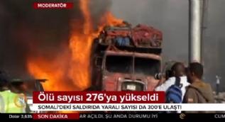Somali'deki terör saldırısında ölü   sayısı 276'ya ulaştı! Yaralılar Türkiye'de tedavi görecek