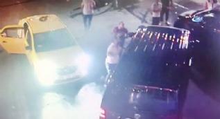 UBER Sürücüne saldırı güvenlik kamerasında