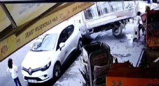 Esenyurt'ta kamyonet dehşeti kamerada