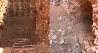 Nusaybin'de PKK'nın Suriye'den silah ve terörist sevkiyatı yaptığı tünel ele geçirildi