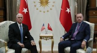 Dünyanın gözü Ankara´da! Başkan Erdoğan, Mike Pence´i kabul etti