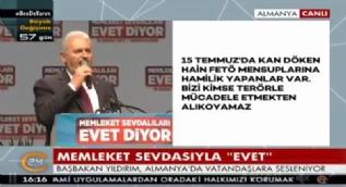 Yıldırım: Türkiye'de tekrar 15 Temmuz olmaması için MHP ile istişare ettik