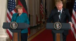 Trump'ın esprisi Merkel'i şaşırttı