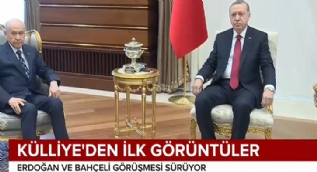 Cumhurbaşkanı Erdoğan ve Bahçeli görüşmesinden ilk görüntüler