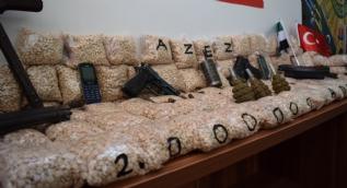 Fırat Kalkanı bölgesinde uyuşturucu operasyonu: Terör örgütü PKK´nın 2 milyon hapı ele geçirildi